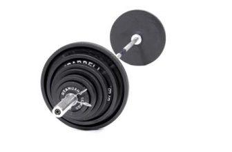 Træningsbænk, vægtstang og vægtskiver – priser og tilbud